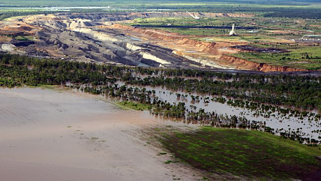 Flooded Australian Coal Mine