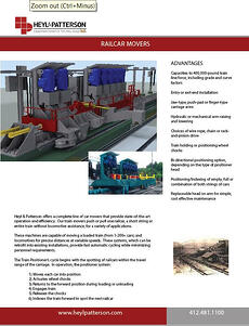 Railcar Movers Brochure
