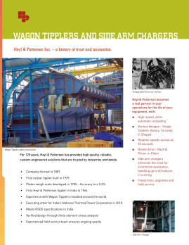 Wagon Tippler Brochure