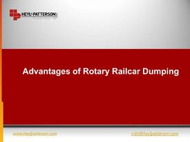 Advantages of Rotary Railcar Dumping